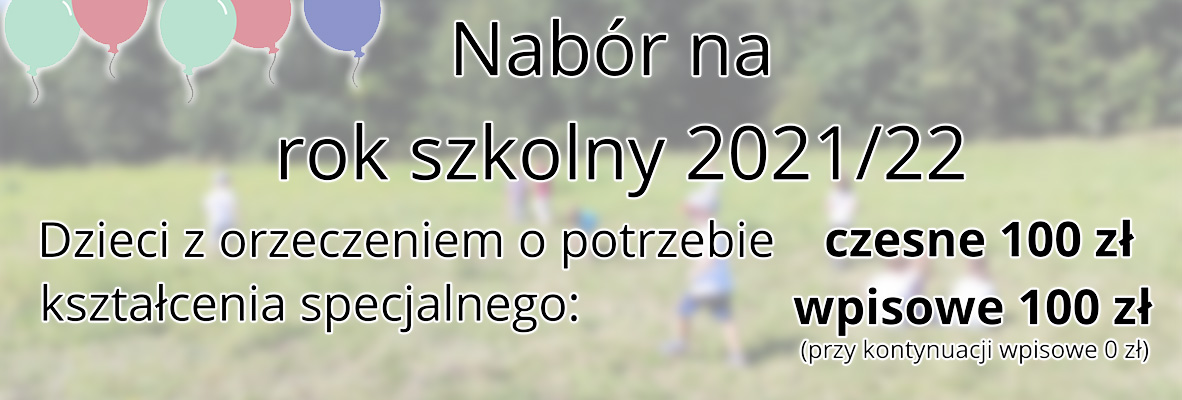 Nabór na rok szkolny 2021/22
